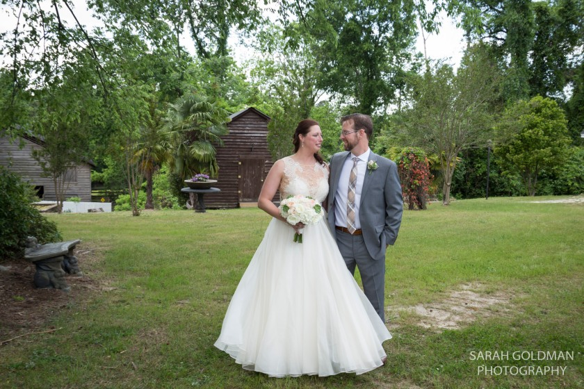 bride and groom at corley mill house