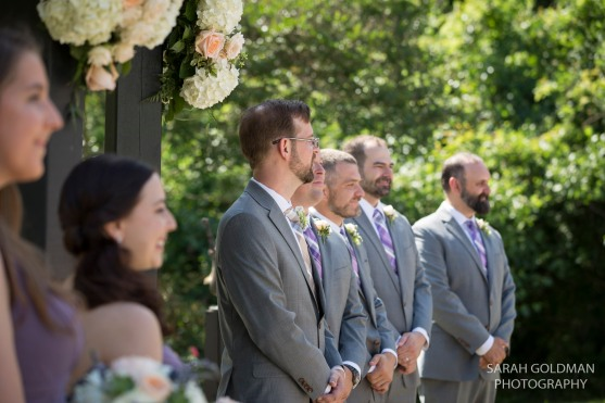 wedding ceremony at corley mill house