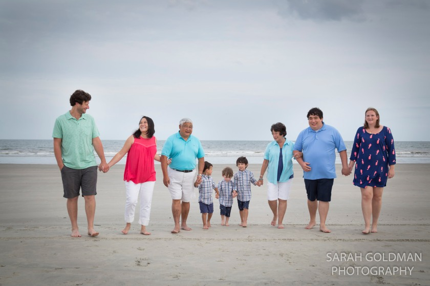 family photo at isle of palms