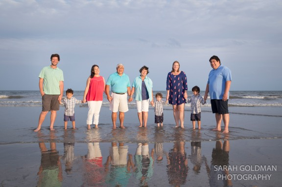 family photo on iop charleston sc