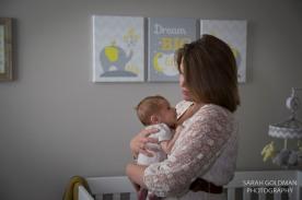 mom with newborn baby in charleston