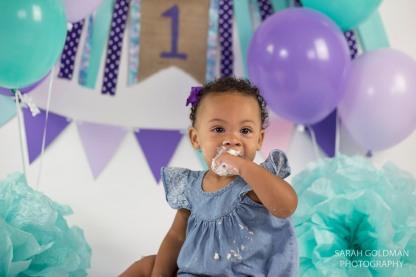 baby eating cake in charleston