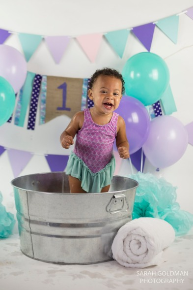 bath time studio session with baby in charleston