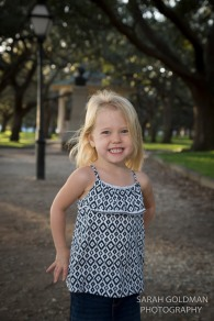 little girl at the battery in charleston sc