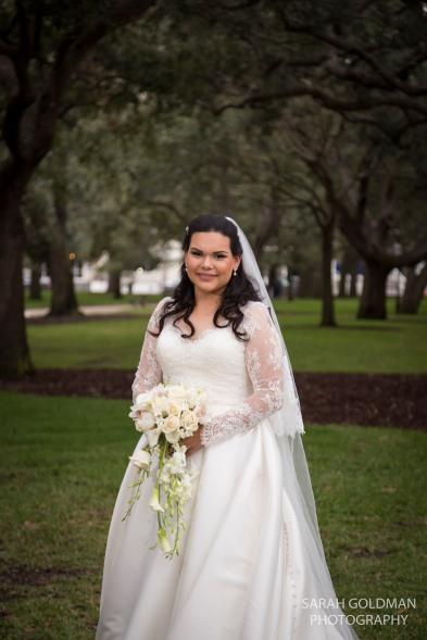 bride at white point garden