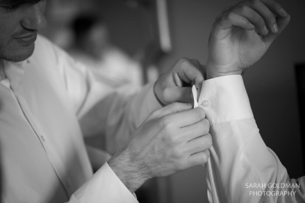 groomsmen getting ready at francis marion hotel