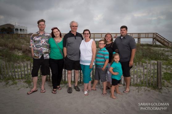 family photos on folly beach