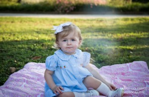 baby in a park in Charleston