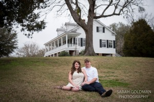 Engagement photos at Old Santee Canal Park