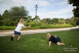 kids playing in hampton park
