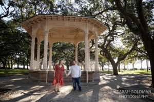 white point gardens engagement session