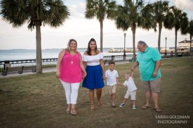 family photos at waterfront park