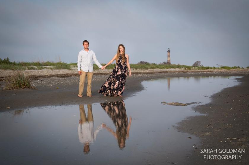 couple standing on Morris Island